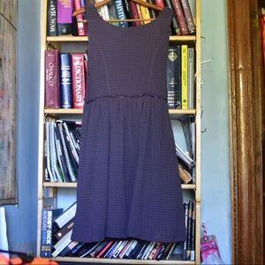 Gorgeous draped purple Anthropologie dress, size L